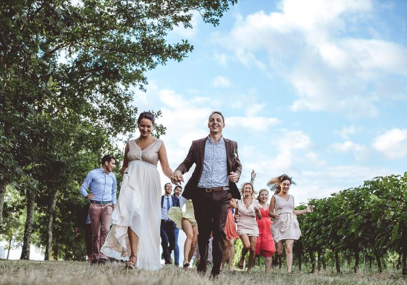 reportage mariage photo goupe orignale rigolo invites temoins amis famille toulouse cognac