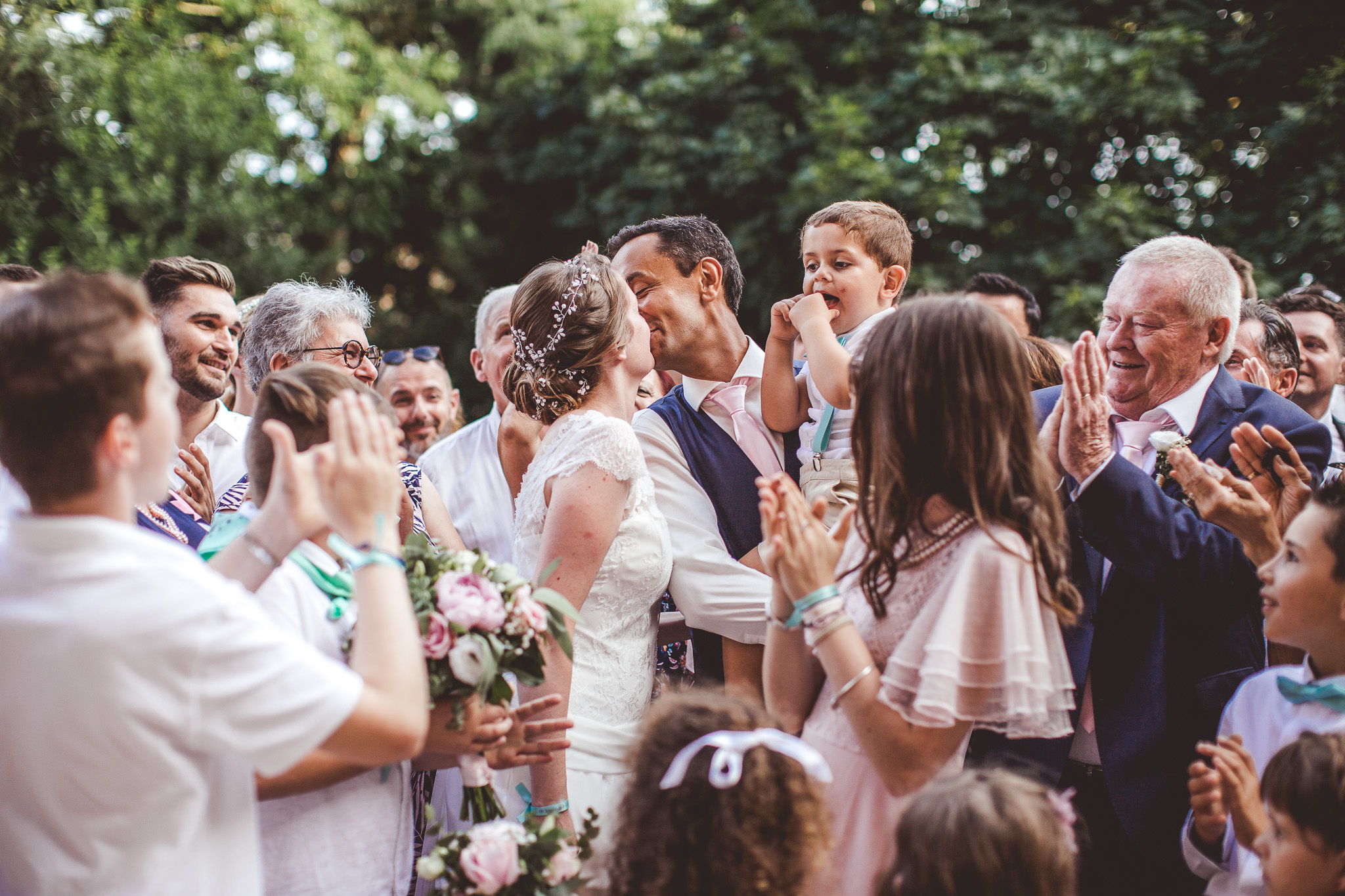 reportage mariage photo goupe orignale rigolo maries couple invites temoins amis famille toulouse chateau launac