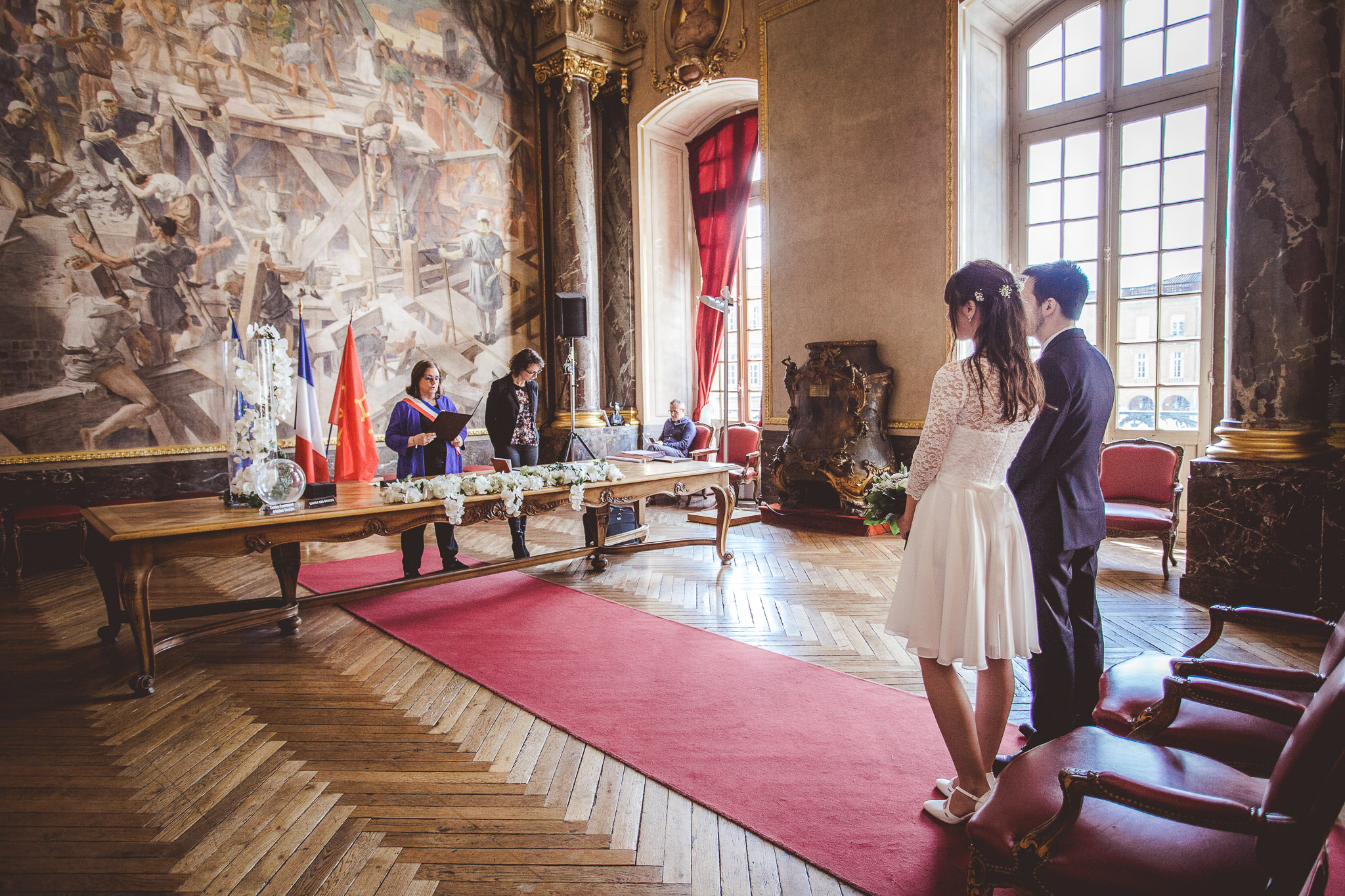 reportage mariage photo ceremonie civile mairie capitole toulouse