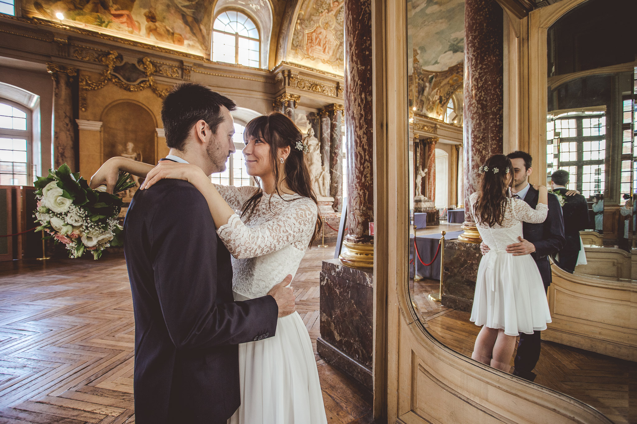 reportage mariage seance photo couple mairie capitole toulouse