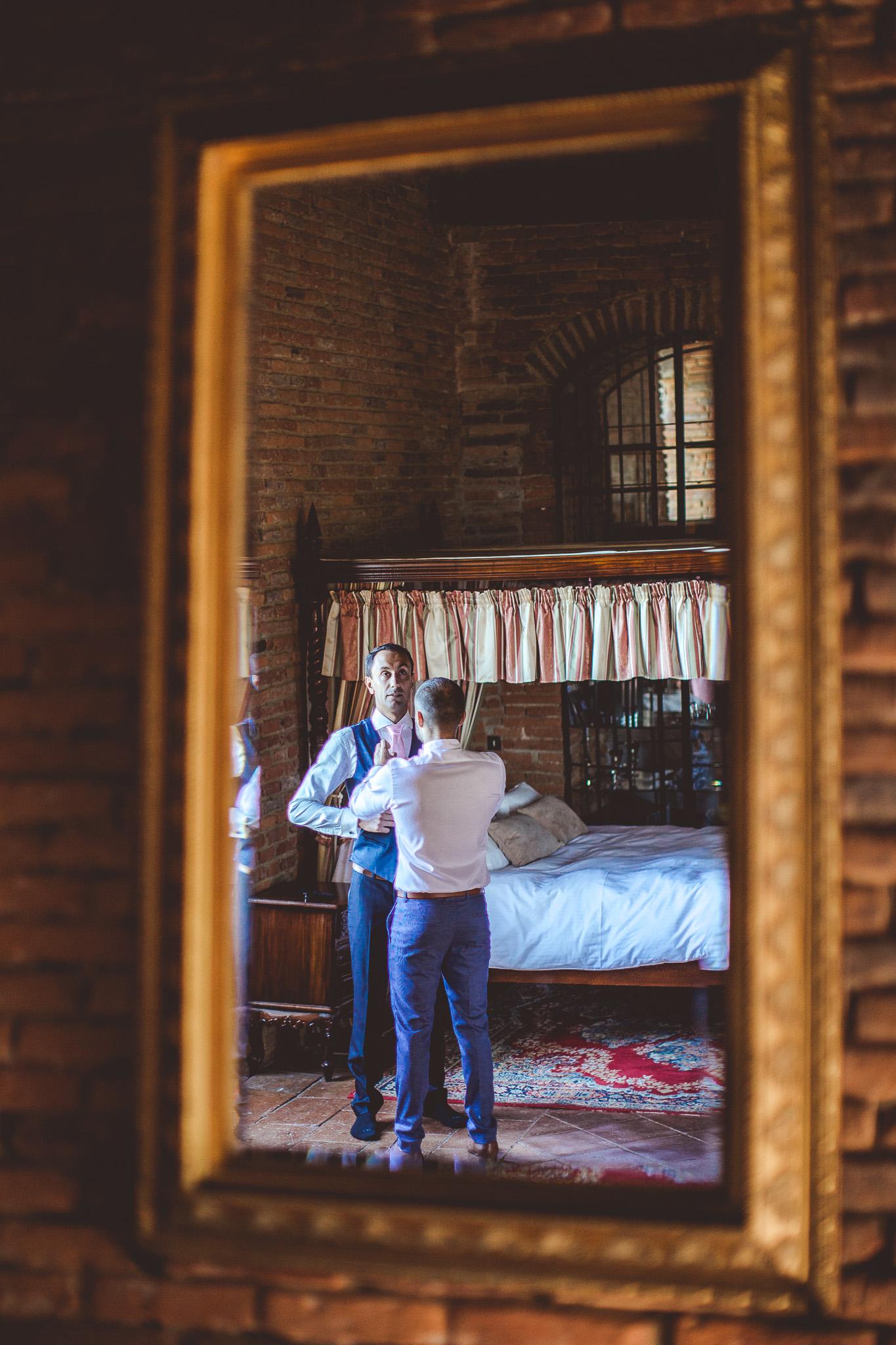 reportage mariage photo habillage preparatifs le mariee chateau lauanc