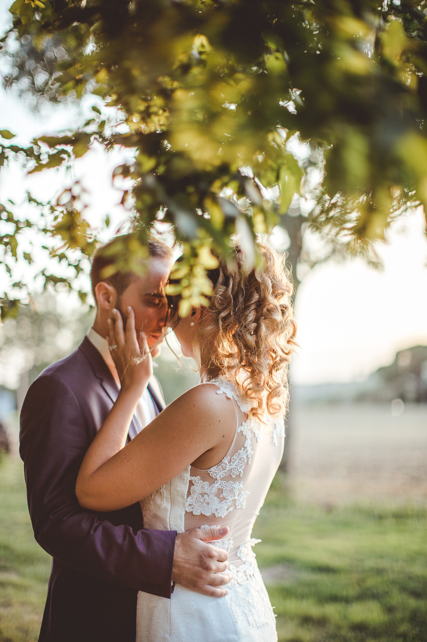 seance photo couple mariage golden hour domaine de ronsac toulouse